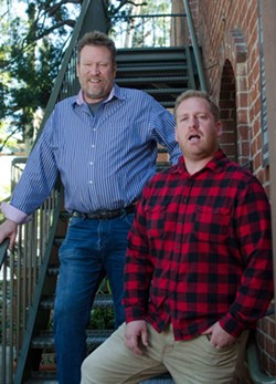 Comedians Andy Gold and Kurtis Matthews perform in The Addicts Comedy Tour at the JCC on Aug. 16 - ANDY GOLD