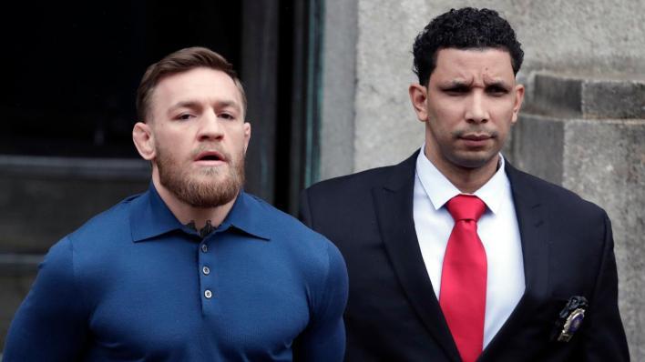 Conor McGregor exits Brooklyn police station in handcuffs
