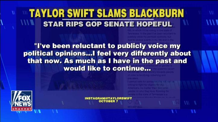 Trump Responds to Taylor Swift on Blackburn
