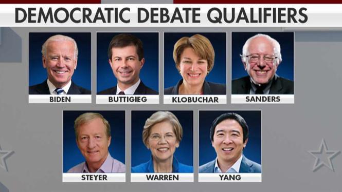 "Image result for five top Dem. debate"""