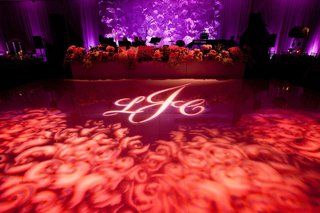 rose monogram dance floor