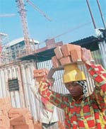 Building blocks: Jain Steel and Power�s construction site