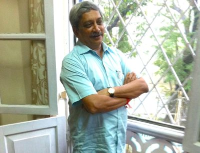 """Goa CM <a href=""""http://indiatoday.intoday.in/people/manohar-parrikar/17951.html"""">Manohar Parrikar</a> at his residence in Goa last fortnight. Photo: Sandeep Unnithan."""