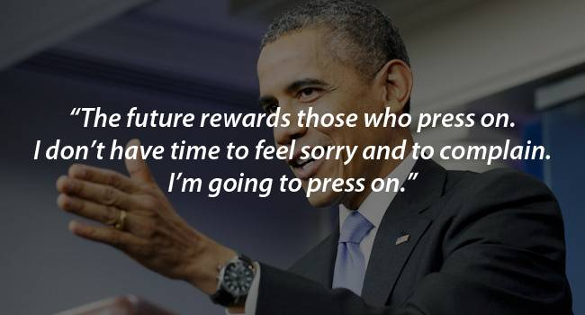 Image result for obama the future rewards those who press on