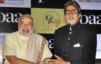 (Left) Narendra Modi and Amitabh Bachchan