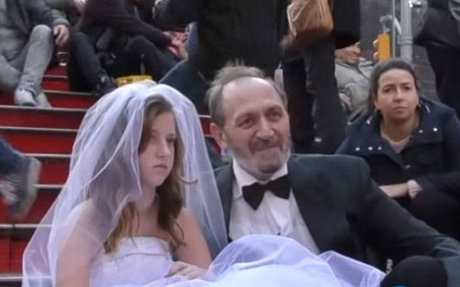 Watch: How New Yorkers reacted when they saw a 65-year-old man marrying a little girl. Will you do the same?