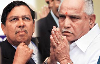 Justice Santosh Hegde and BS Yeddyurappa