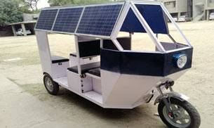 College students develop solar powered e-rickshaw for city roads