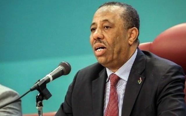 Libya's prime minister Abdullah al-Thinni