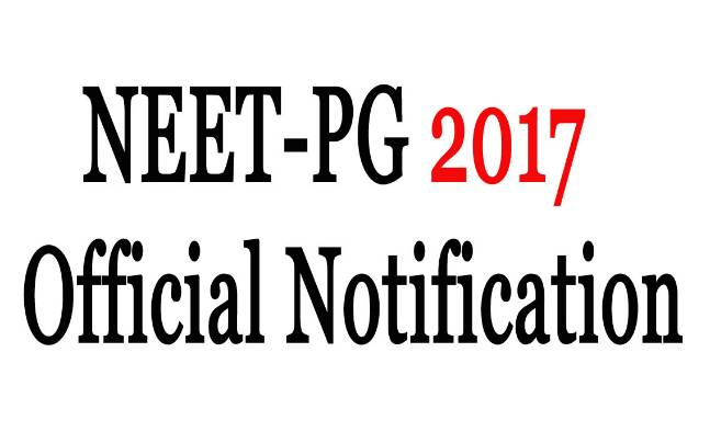 NEET PG 2017: Official notification to be released