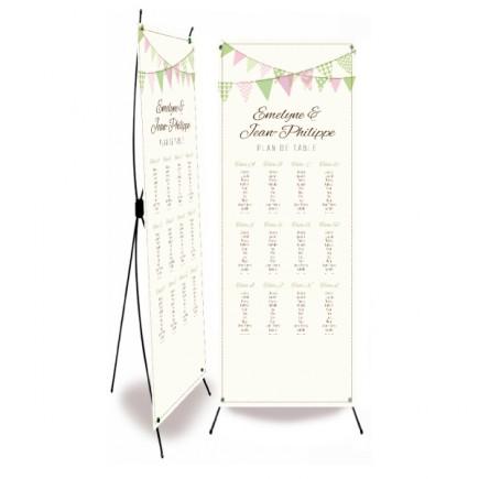 Plan de table mariage fanion photomaton