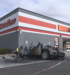 update fire investigators are looking into a car fire in front of an autozone in northeast medford  [ 1920 x 1080 Pixel ]