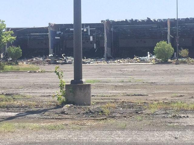 demolition underway at great