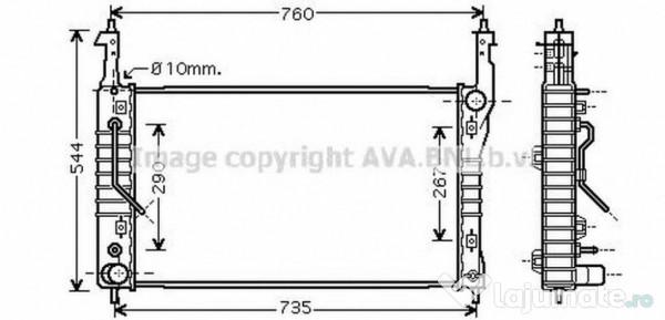 Radiator racire ola2424 opel antara 2.0 cdti 4x4 110kw