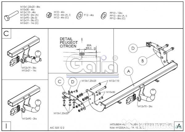Carlig Remorcare Galia pentru Citroen C4 AIRCROSS, 588 ron