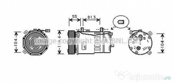 Ventilator radiator FT7547 FIAT BRAVA (182) 1.6 16V (182