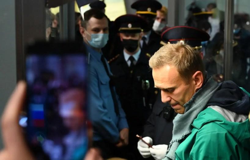 Alexeï Navalny interpellé par la police à son retour en Russie