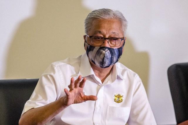 Datuk Seri Ismail Sabri Yaakob speaks during a press conference at Hospital Angkatan Tentera Tuanku Mizan, Kuala Lumpur June 29, 2021. — Picture by Firdaus Latif