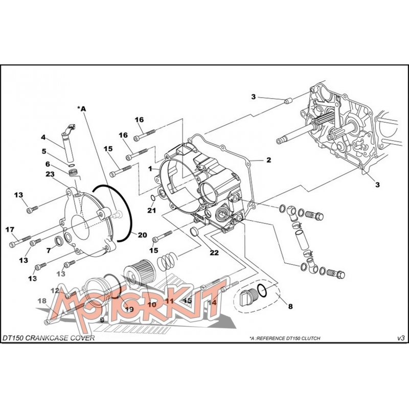 Daytona Gasket, R.Crankcase Cover Daytona Anima price : 4