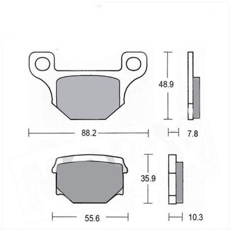 RMS brake pads set for Keeway and Rieju 50cc price : 8,99