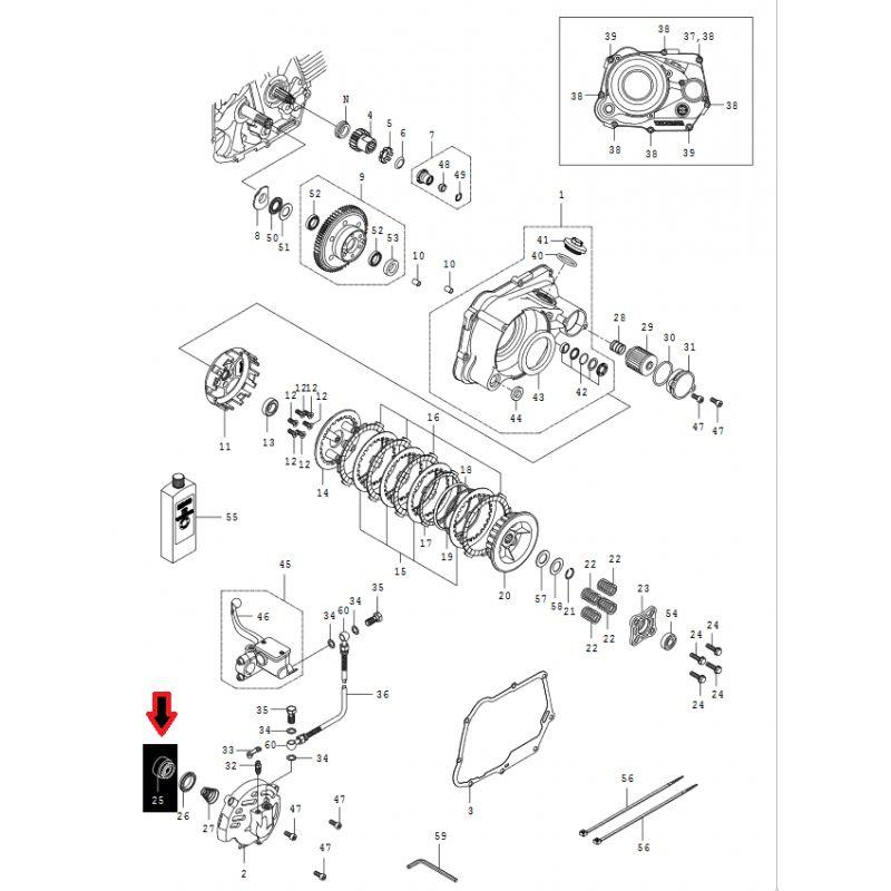 Takegawa aluminium hydraulic repair control piston for dry
