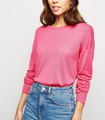 New Look Deep Pink Fine Knit Jumper