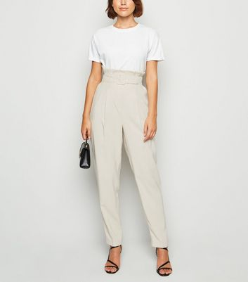 Stone Paperbag Utility Trousers