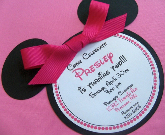birthday party invitation for 4 year old Cogimbous – Minnie Mouse 2nd Birthday Invitation Wording