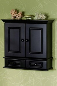 Black Bathroom Storage Cabinet