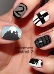 """hunger games"" nail art hunger"