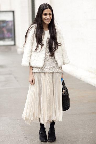 All white street style via Fashionology