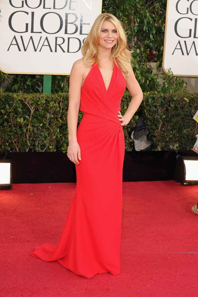 Claire Danes in Versace at the 2013 Golden Globe Awards