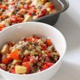 Recipe For Red Capsicum and Lentil Bake