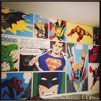 Superhero Bedroom Mural | POPSUGAR Tech