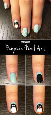 penguin nail art tutorial popsugar
