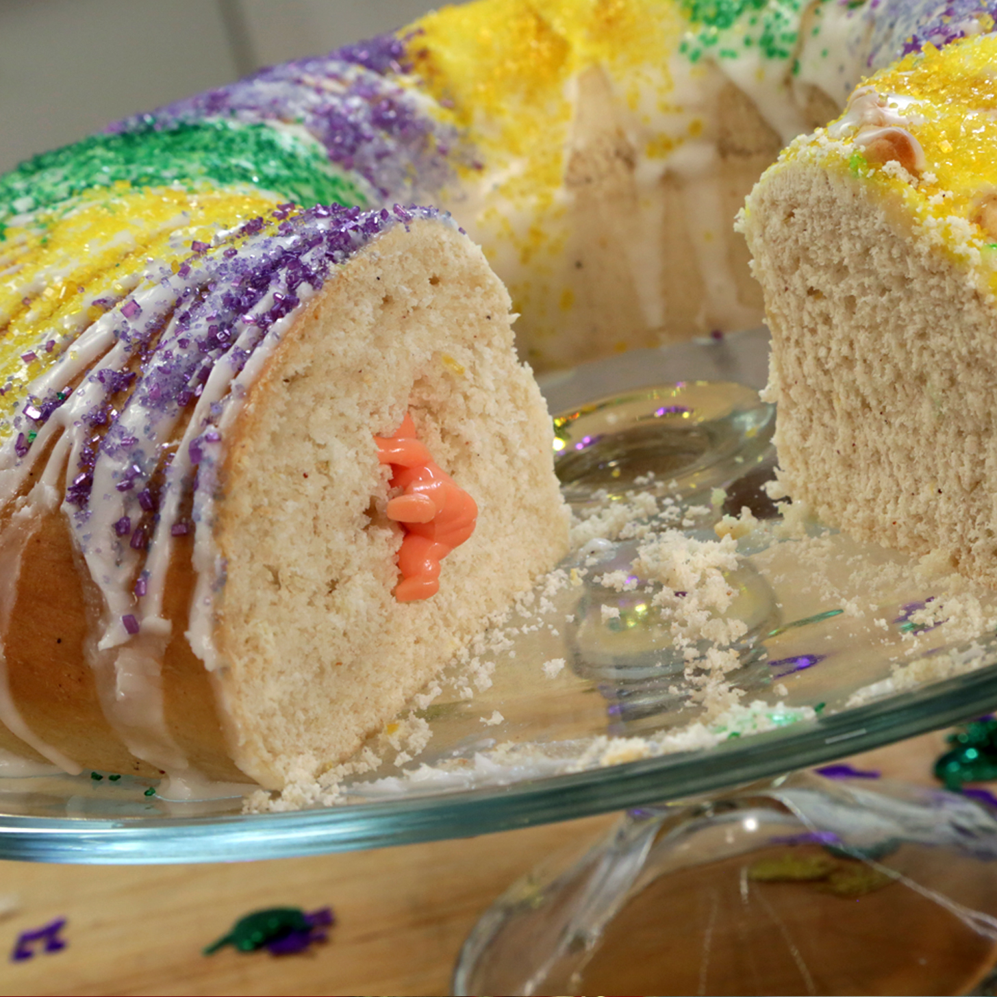 mardi gras king cake recipe popsugar food