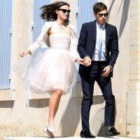 Keira Knightley Spills Red Wine on Wedding Dress