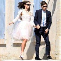Keira Knightley Spills Red Wine on Wedding Dress ...