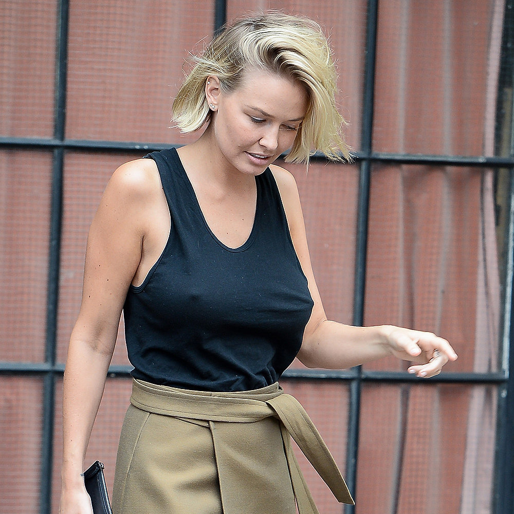 Lara Bingle Bra Less Outfit Pictures In New York