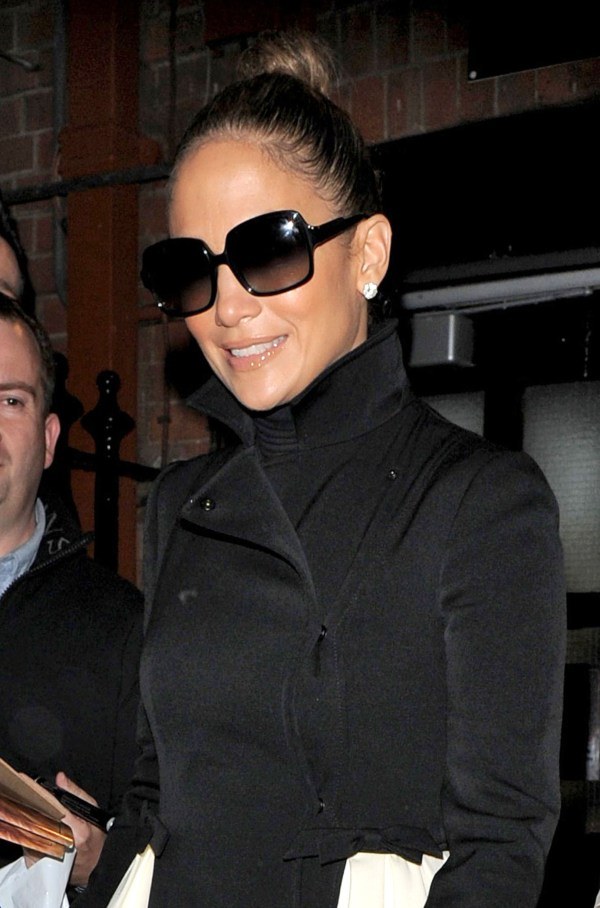Jennifer Lopez Sported Pair Of Sunglasses. Lo And