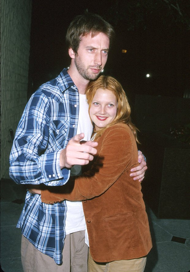 Drew Barrymore married comedian Tom Green in July 2001, and Tom filed for divorce in December of that year. The comical duo starred together in Charlie's Angels and Tom's Freddy Got Fingered before calling it quits.<br /><br />