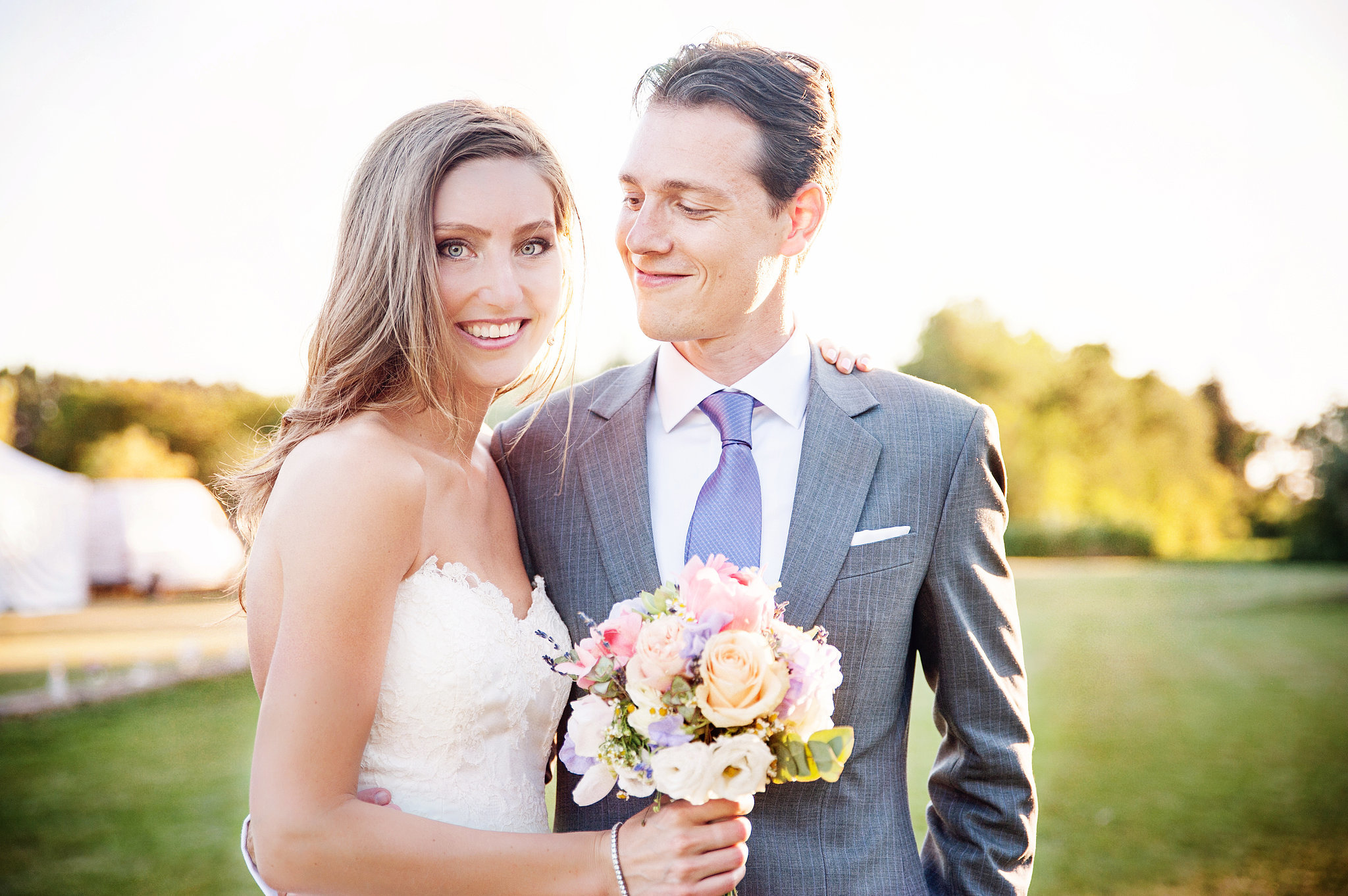 Bride and Groom Portrait  This Charming Provence Wedding