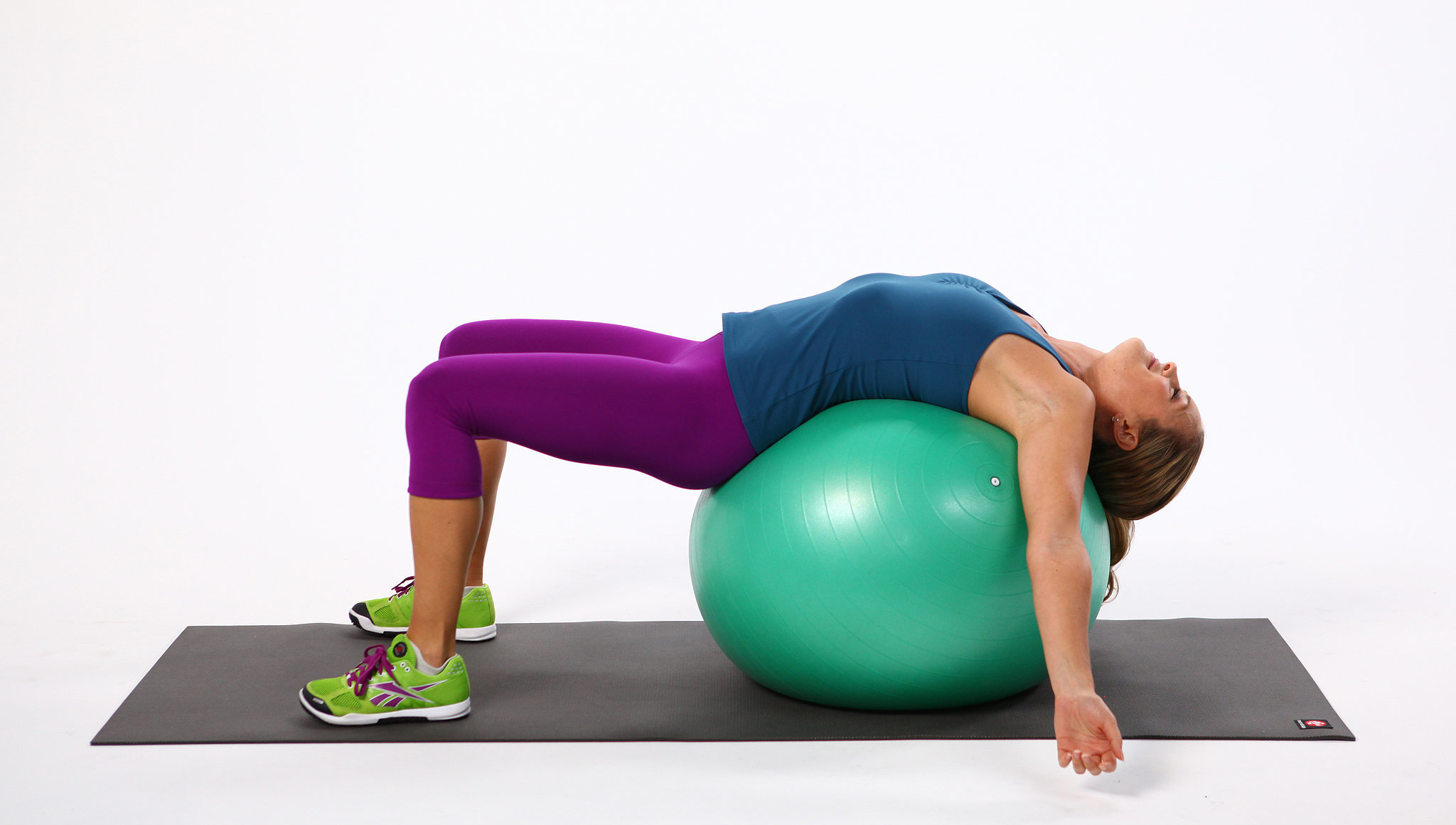 yoga ball chair exercises jazzy mobility parts what size exercise to buy for your height popsugar fitness strength training