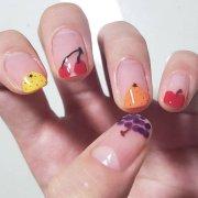 fruit nail art manicures popsugar