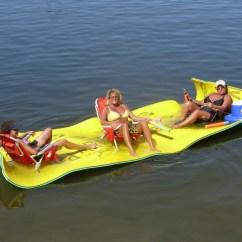 Pool Floating Lounge Chairs Fishing Chair Mud Feet The Aqua Lily Pad Creates A Temporary Island | Popsugar Home