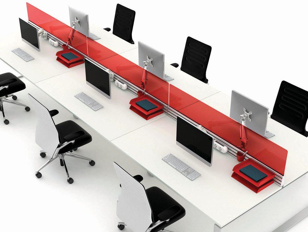 Podium Desk Mounted Mesh Screen