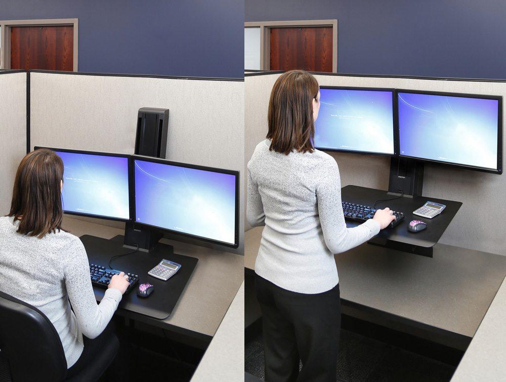 Ergotron WorkFitSR Dual Monitor Sit Stand Workstation
