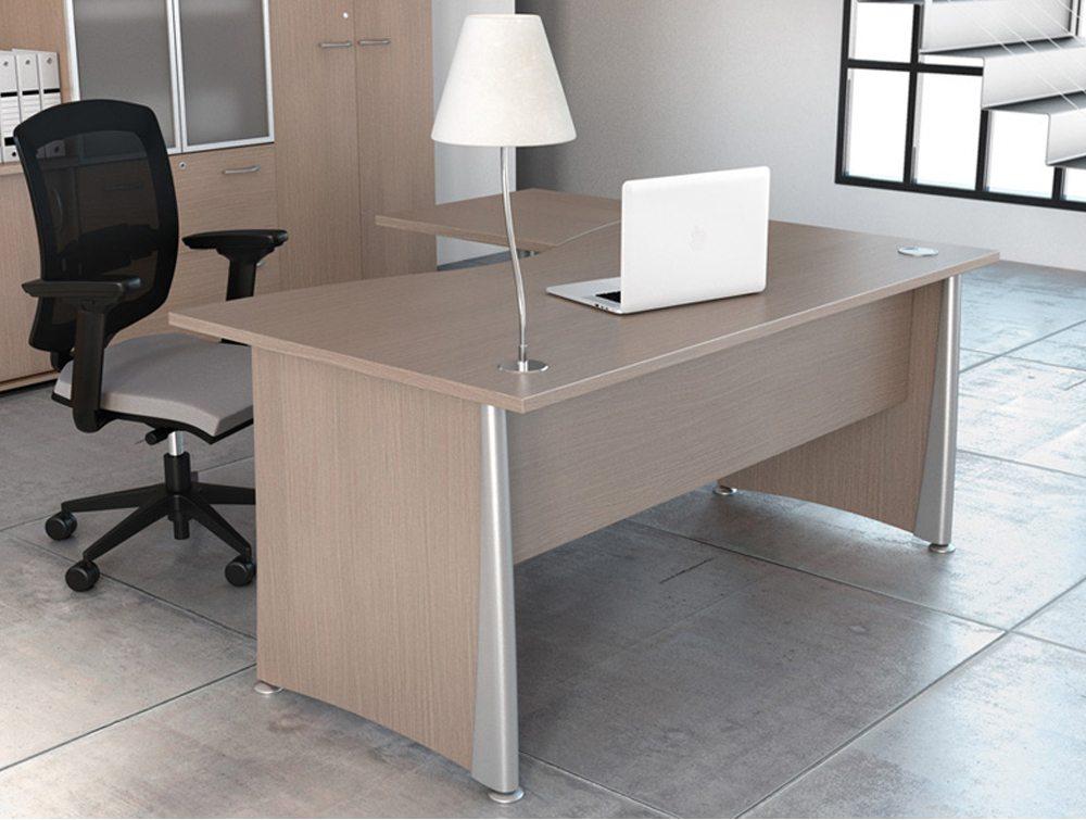 Buronomic P2 Double Wave Managers Desk  Radius Office