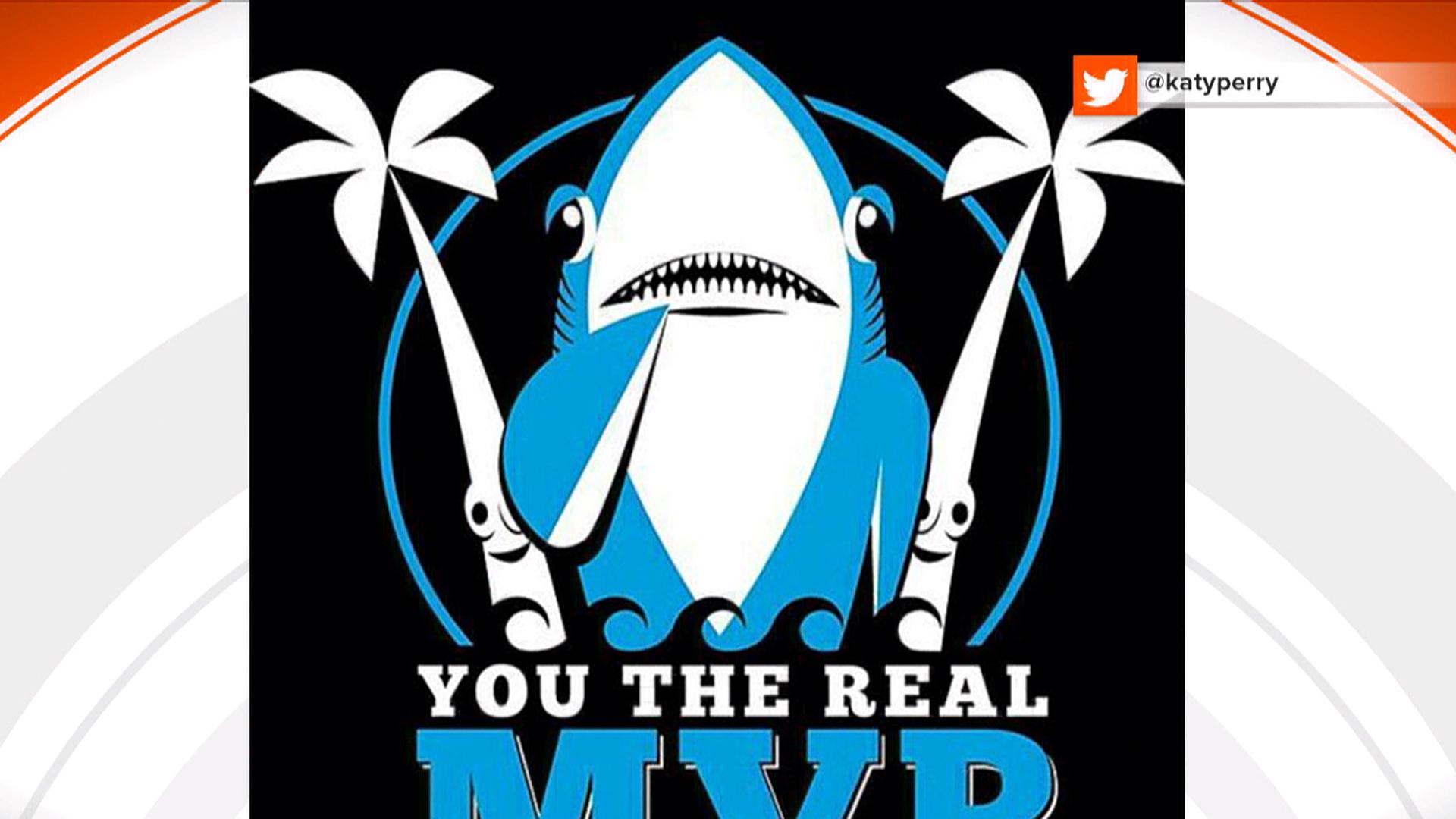 Katy Perrys dancing Super Bowl shark goes viral  TODAYcom