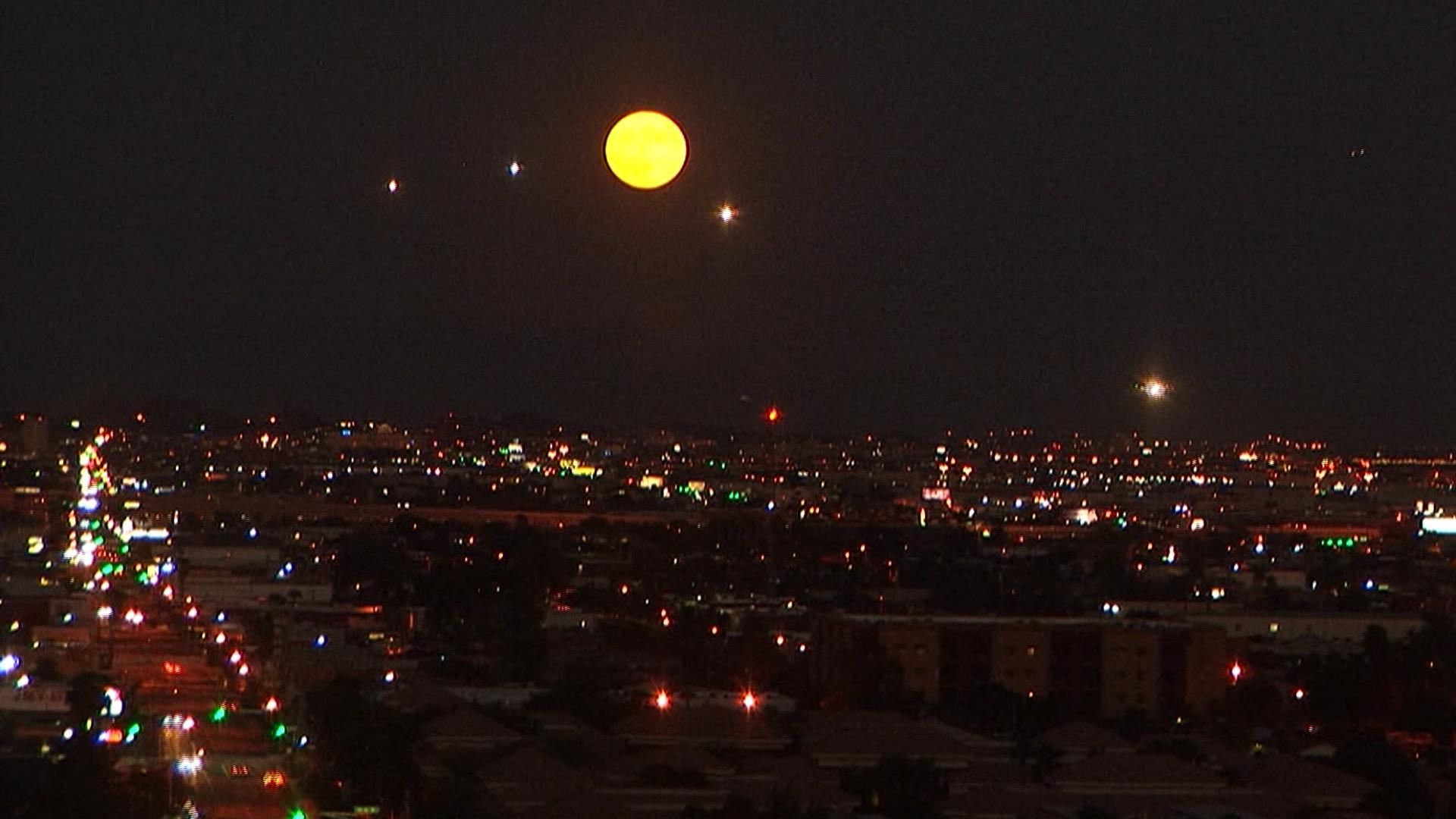 Harvest Moon Rises In TimeLapse Video  NBC News
